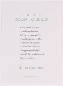 from Room to Sleep by John Godfrey (Unsigned)