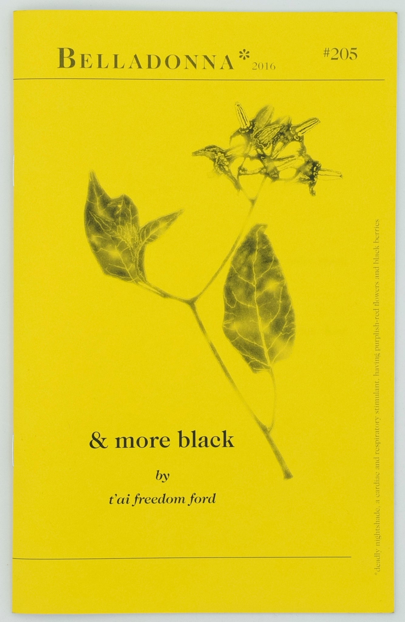 from & More Black (Belladonna* #205)