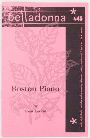 Boston Piano (Belladonna* #45)