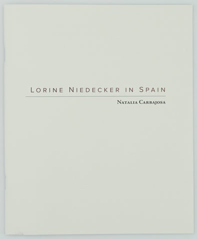 Lorine Niedecker in Spain