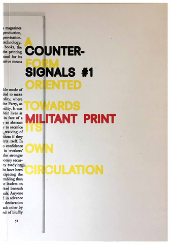 Counter-Signals #1 (Fall 2016–Winter 2017)