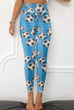 Load image into Gallery viewer, High Waist Soccer Ball Fitness Leggings
