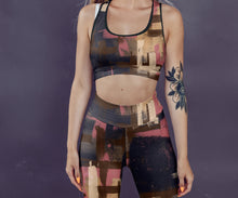 Load image into Gallery viewer, Autumn Art Brush Sports Bra Leggings Set