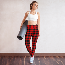 Load image into Gallery viewer, Buffalo Red Plaid Rash Guard Leggings Set