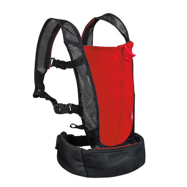 phil&teds lightweight baby carrier in scarlett 3qtr view_scarlet