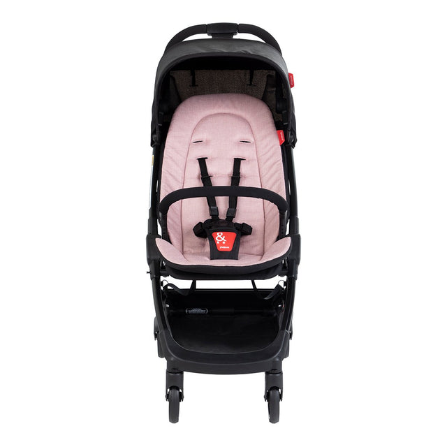 phil&teds go light and compact buggy in blush pink front view_blush