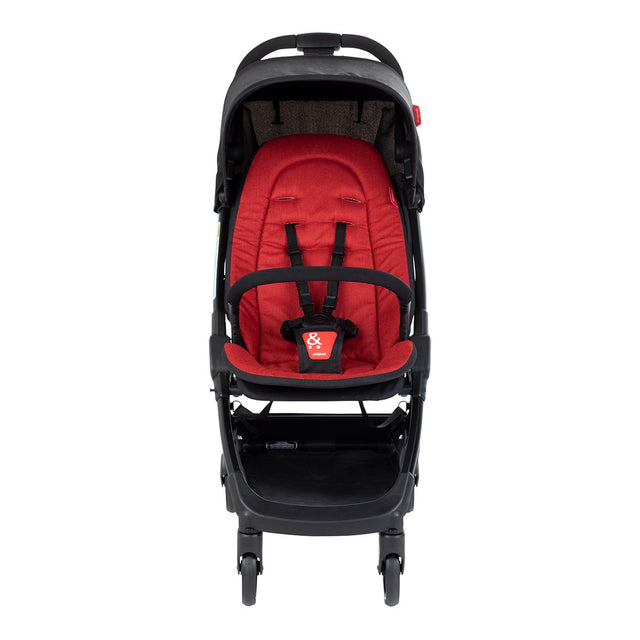 phil&teds go light and compact buggy in chilli red front view_chilli