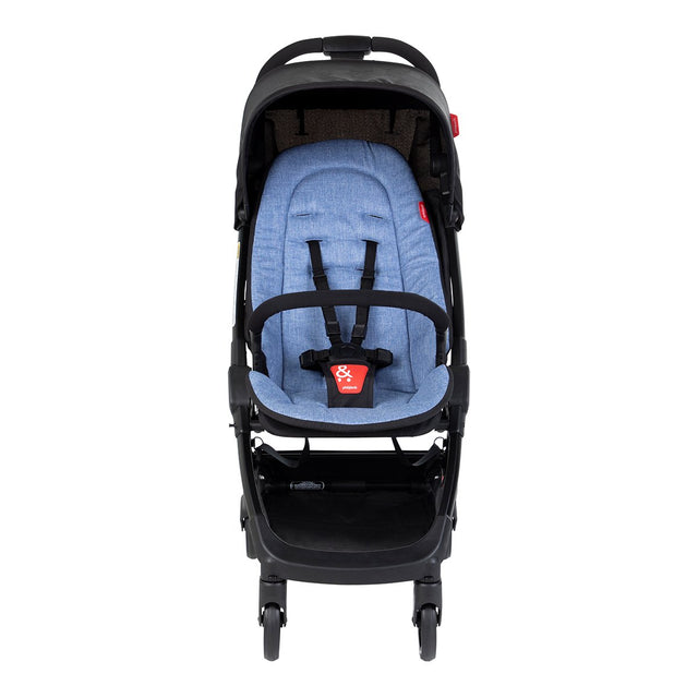 phil&teds go light and compact buggy in sky blue front view_sky