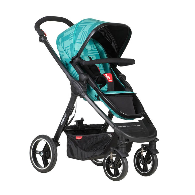 phil&teds mod stroller in capri colour 3/4 view_capri