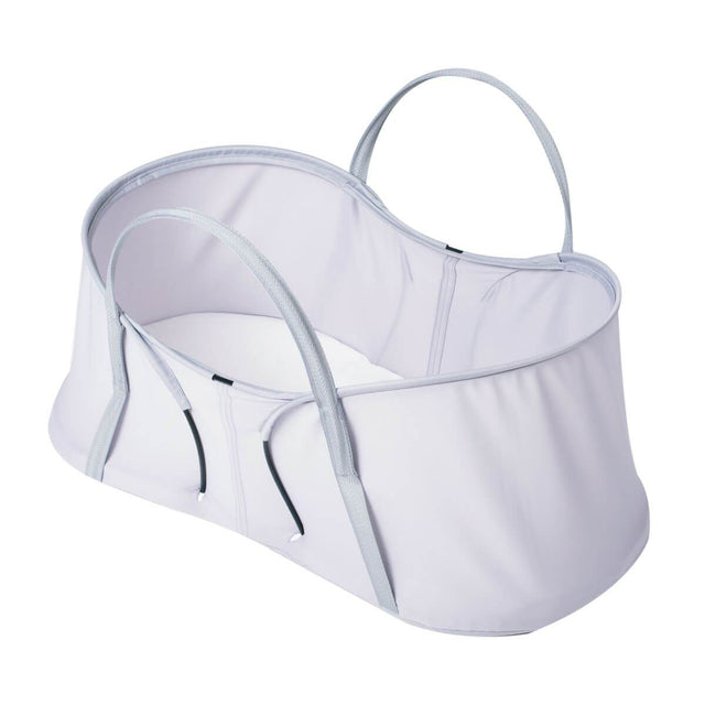 phil&teds nest baby bassinet 3/4 view_silver