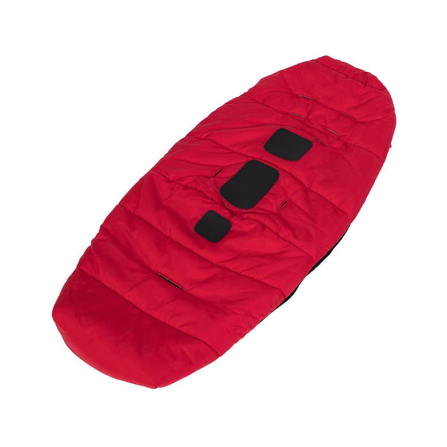 phil&teds snuggle & snooze sleeping bag bottom in red 3/4 view_red