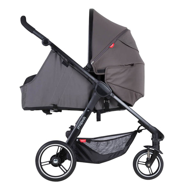 phil&rteds smart stroller v3 graphite grey lightweight travel cocoon parent facing position_graphite