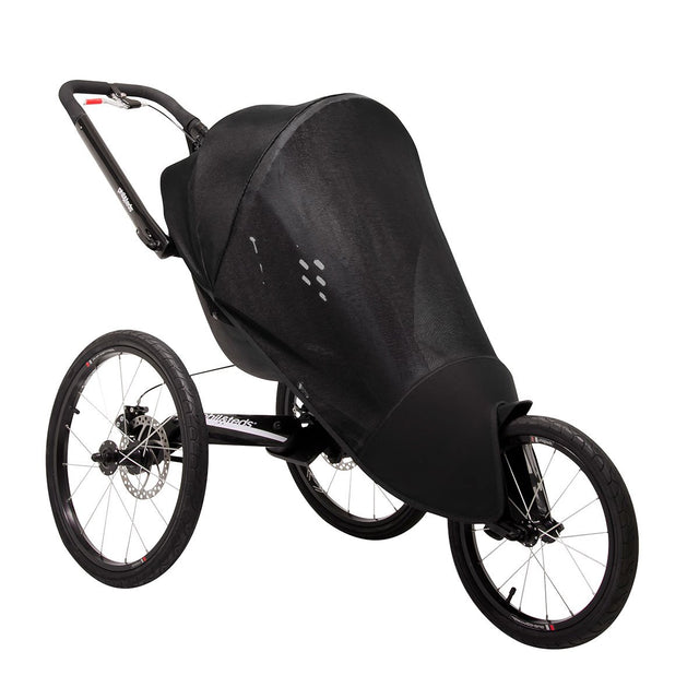 phil&teds sub4 jogging stroller with sun cover fitted 3qtr view_black