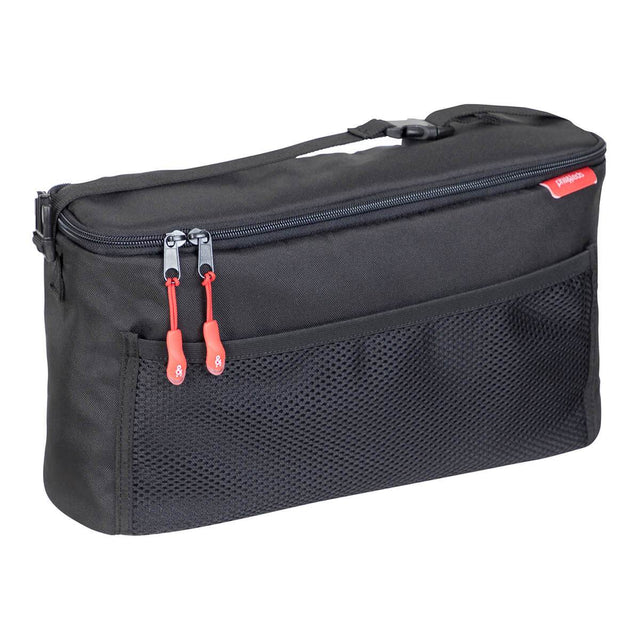 phil&teds caddy storage bag in black 3/4 view_black
