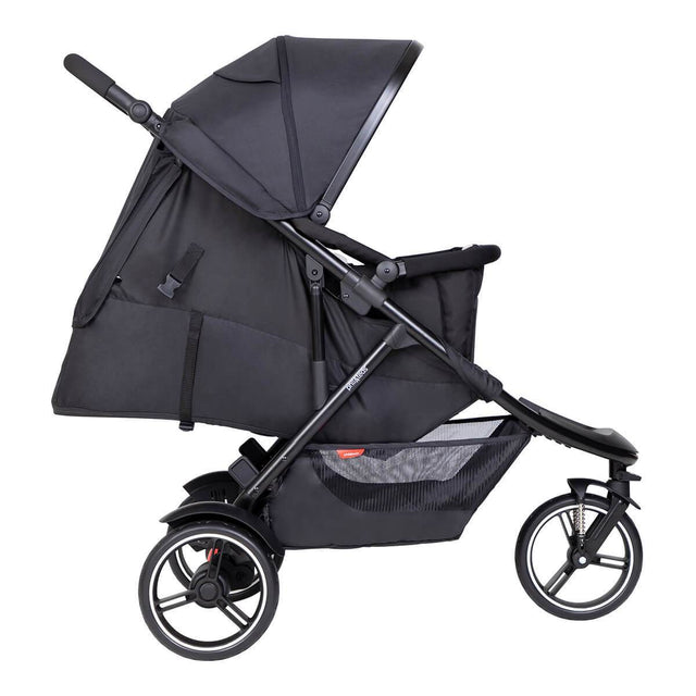 phil&teds dot inline buggy with newborn cocoon_black