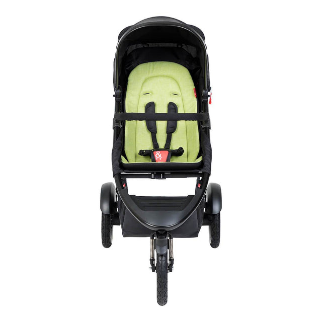 phil&teds sport inline buggy in apple green front view_apple