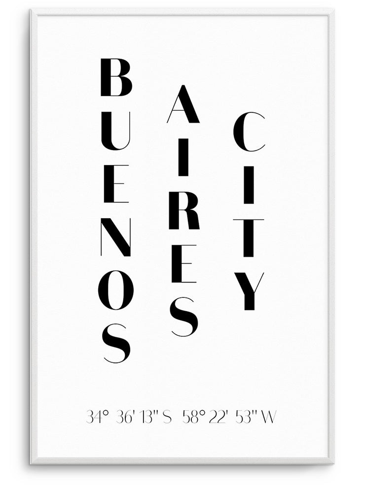 BUENOS AIRES CITY - FINE ART POSTER