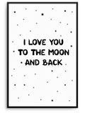 TO THE MOON - FINE ART POSTER