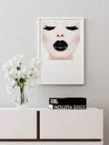 BLACK LIPS - FINE ART POSTER