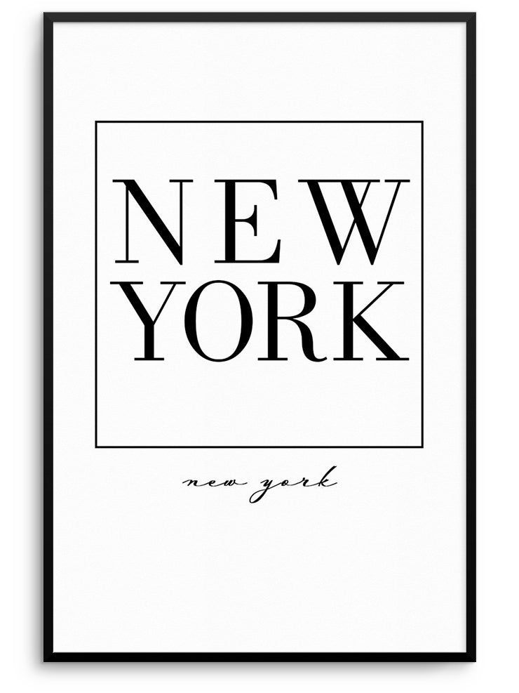 NEW YORK - FINE ART POSTER