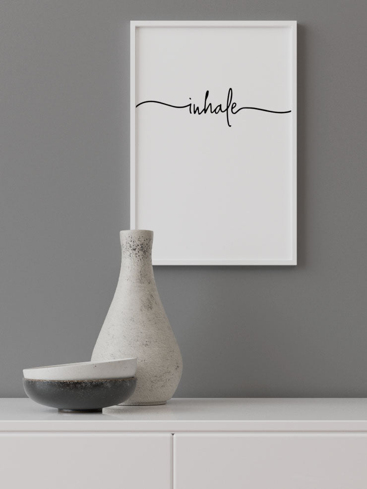 INHALE - FINE ART POSTER