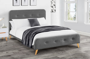 Retro Double Fabric Bed<br>£10 Per Week For 42 Weeks