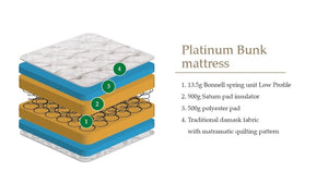 Platinum Bunk and Cabin Bed Mattress<br>£10 Per Week For 16 Weeks