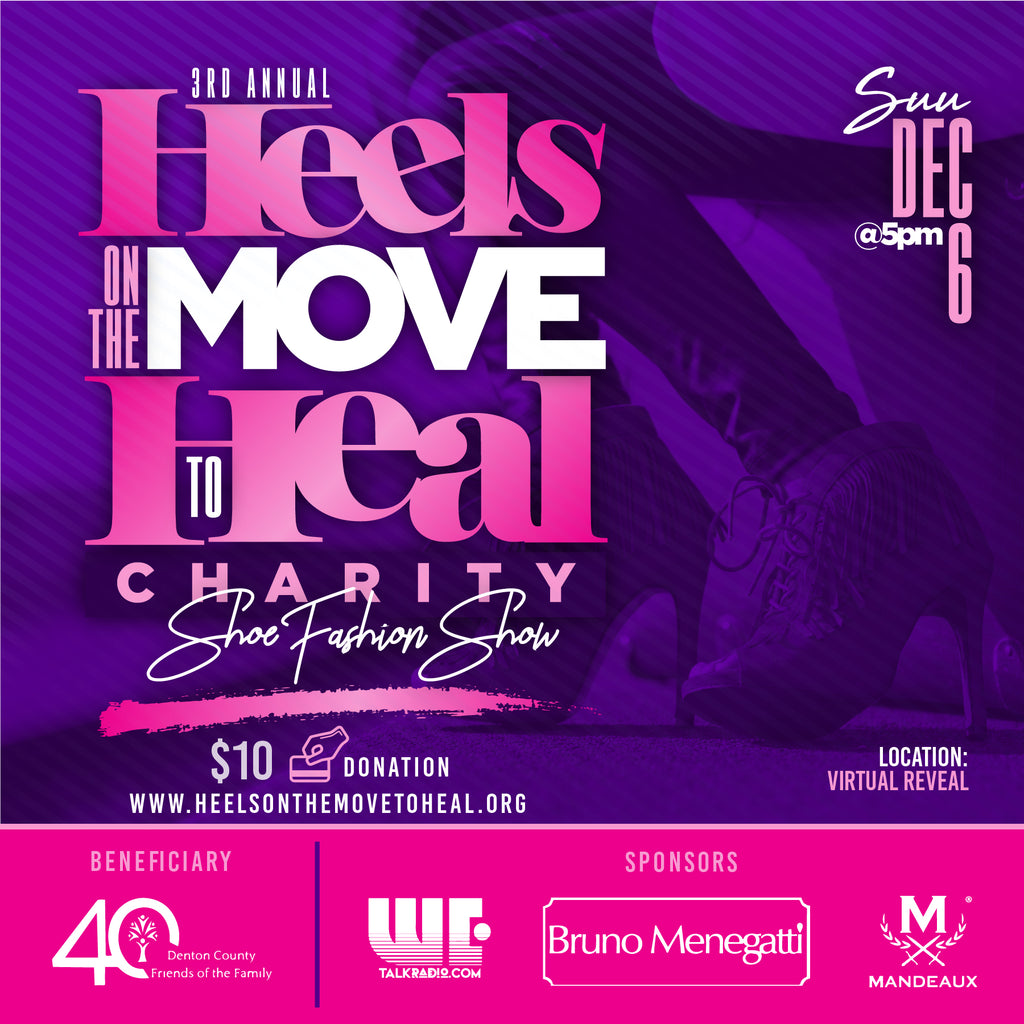 Heels on the Move to Heal Flyer