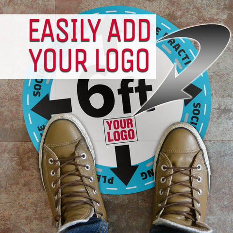 CUSTOMIZED Social Distancing Floor Decals