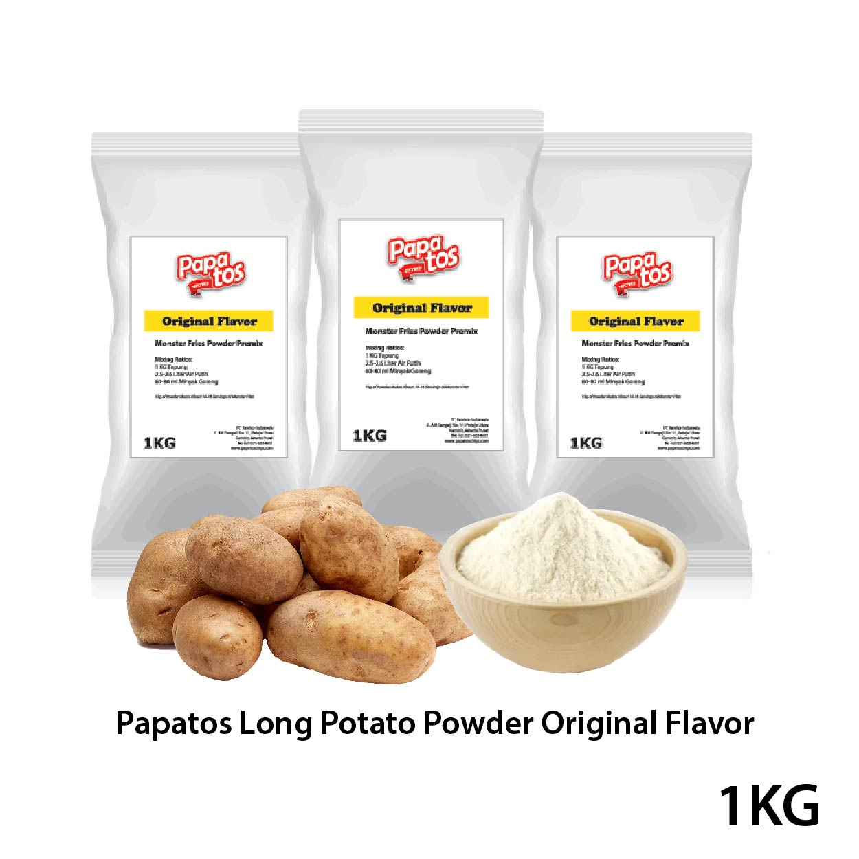 Papatos Long Potato Fries Powder Original Flavor
