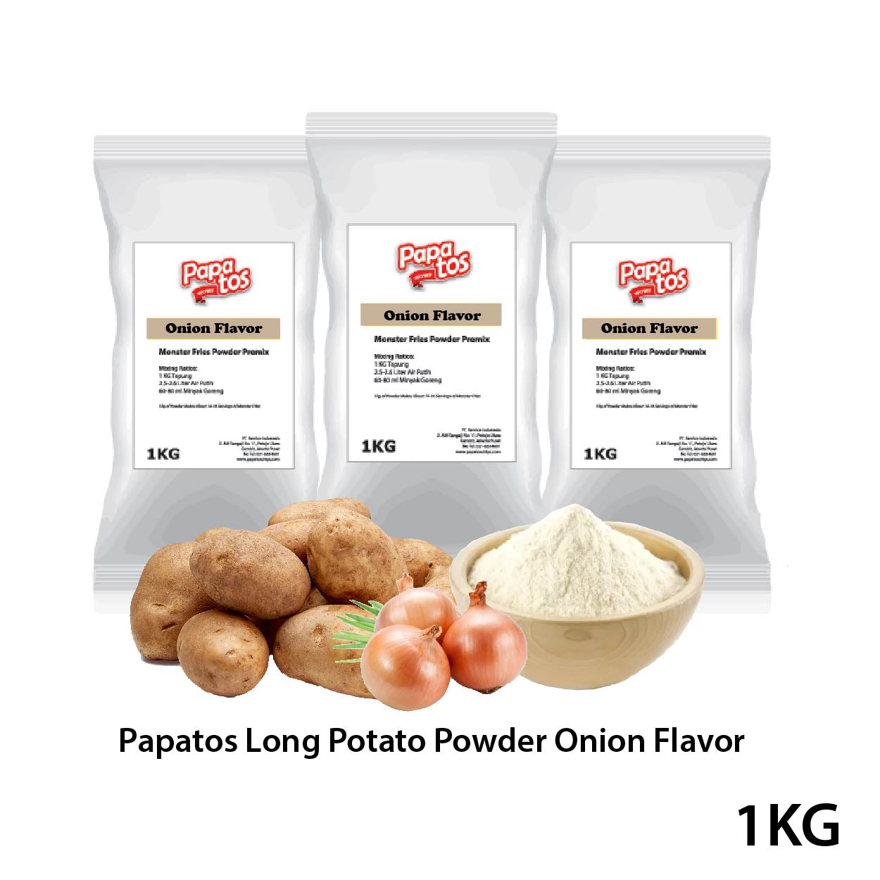 Papatos Long Potato Fries Powder Onion Flavor