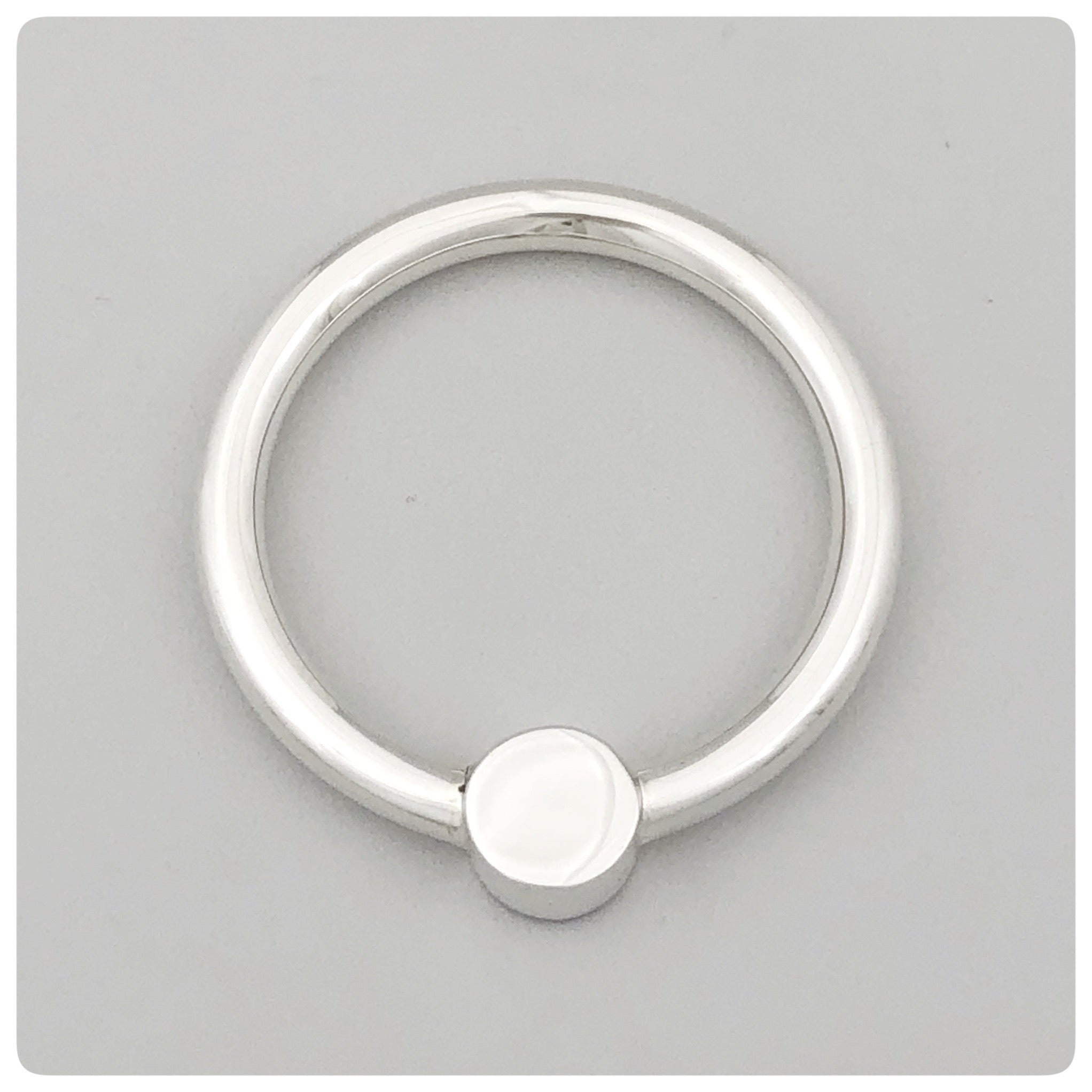 Sterling Silver Circular Teething Ring and Rattle, The Prince Company, Pawley's Island, SC, New - The Silver Vault of Charleston