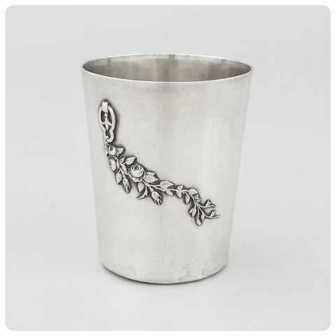 First Standard (950/1000) Solid Silver Beaker, 1838-1879 - The Silver Vault of Charleston