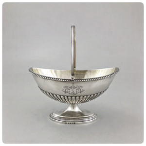 English Sterling Silver and Vermeil Sugar Basket, William Simmons, London, 1800-1801 - The Silver Vault of Charleston