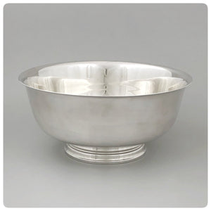 Sterling Silver Paul Revere Reproduction Punch Bowl, Tiffany and Company, New York, NY, 1927-1947 - The Silver Vault of Charleston