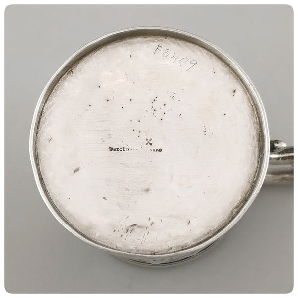 "Mark, Coin Silver Handled Cup, Engraved ""Lyles"", Radcliffe and Guignard, Columbia, SC 1856-1858 - The Silver Vault of Charleston"