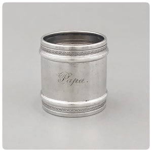 Sterling Silver Napkin Ring, Gorham Manufacturing Company, Providence, RI, 1880 - The Silver Vault of Charleston