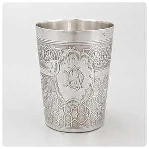First Standard (950/1000) Solid Silver Beaker, Paris, Circa 1900
