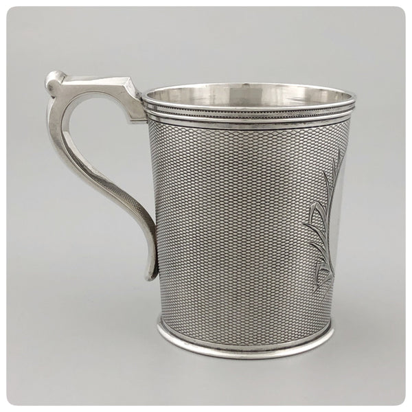 Coin Silver Handled Cup, T. C. Garrett and Peter L. Krider, Philadelphia, PA, Circa 1860 - The Silver Vault of Charleston