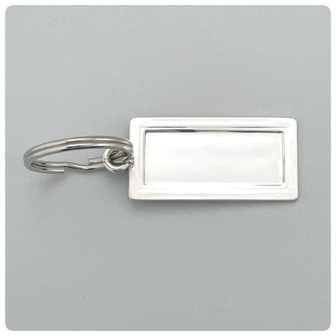 Sterling Silver Rectangular Key Chain, Empire Silver Company, Brooklyn, NY, 20th Century - The Silver Vault of Charleston