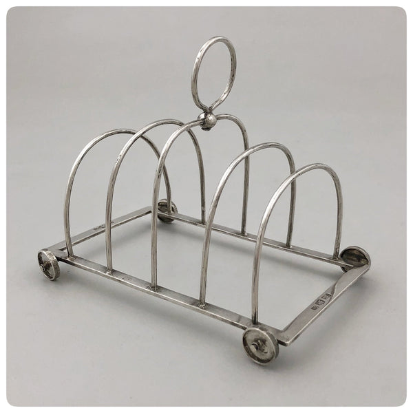 Chinese Export Solid Silver Toast Cart, Sing Fat, Canton, Early 20th Century - The Silver Vault of Charleston
