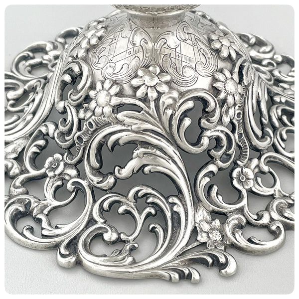 Base, Sterling Silver Vase, Attributed to J. E. Caldwell, Philadelphia, PA, Circa 1890 - The Silver Vault of Charleston