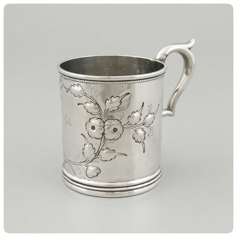"Coin Silver Handled Cup, Engraved ""Lyles"", Radcliffe and Guignard, Columbia, SC 1856-1858 - The Silver Vault of Charleston"