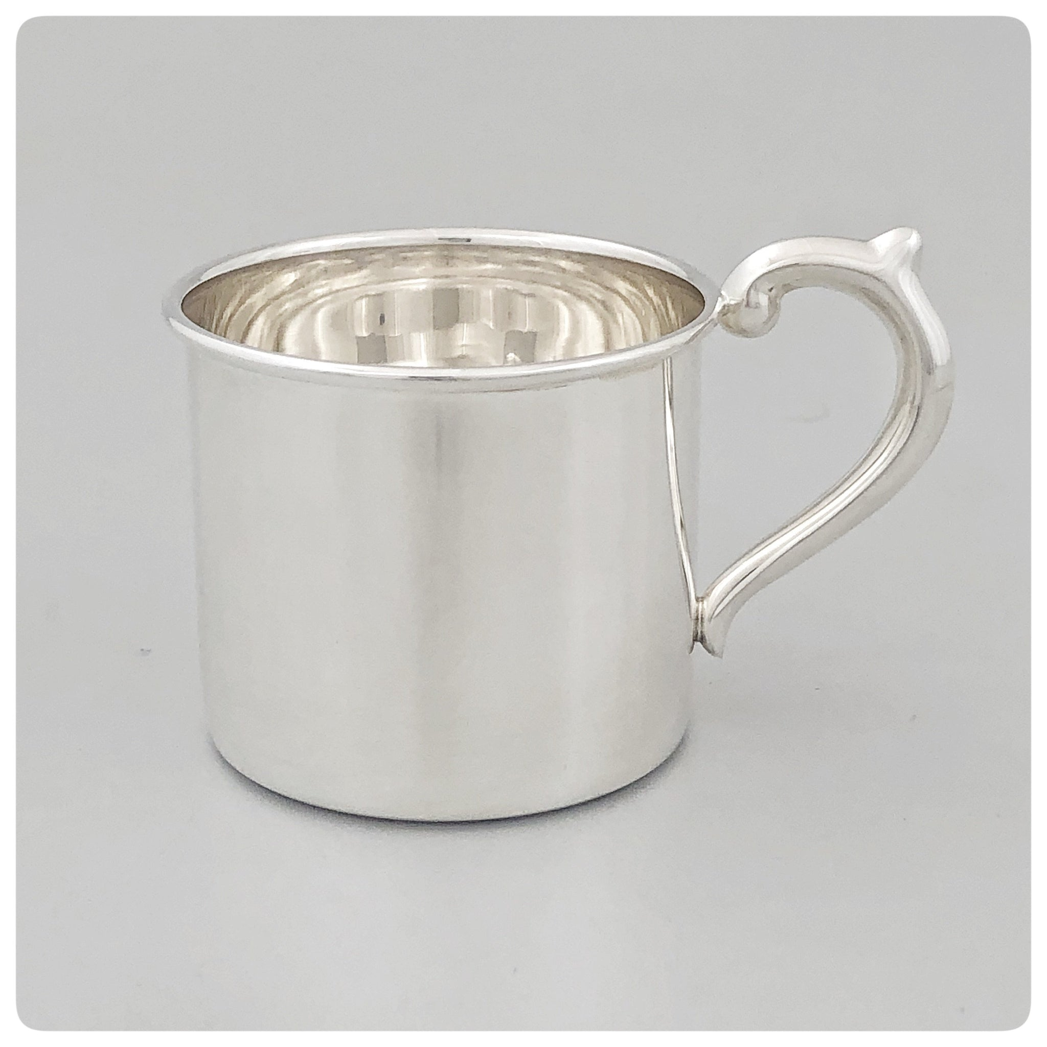 Sterling Silver Baby Cup with Straight Sides, The Prince Company, Pawley's Island, SC, New - The Silver Vault of Charleston