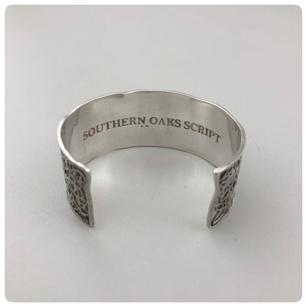 "Sterling Silver Cuff Bracelet, ""Southern Oak"", Cargo Hold, Charleston, SC, New - The Silver Vault of Charleston"