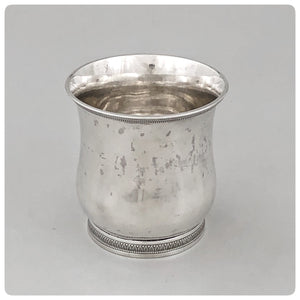 Coin Silver Beaker, Harvey Lewis, Philadelphia, PA, Circa 1825 - The Silver Vault of Charleston