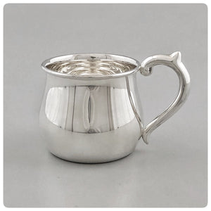 Sterling Silver Baby Cup with Bulbous Sides, The Prince Company, Pawley's Island, SC, New - The Silver Vault of Charleston