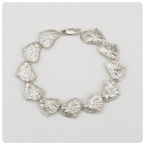 Sterling Silver Continuous Oyster Bracelet, G2 Silver, Charleston, SC, New - The Silver Vault of Charleston
