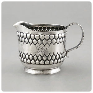 Sterling Silver Cream Pitcher, Tiffany and Company, New York, NY, 1884-1891 - The Silver Vault of Charleston