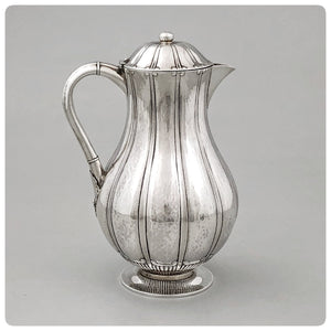 Danish Sterling Silver Hand Wrought Chocolate Pot, Johan Rohde / Georg Jensen, Copenhagen, 1924 - The Silver Vault of Charleston